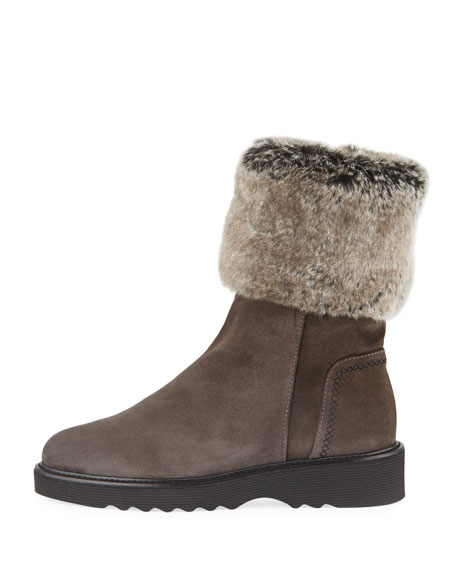Kelly Suede Faux-Fur Hiking Boot