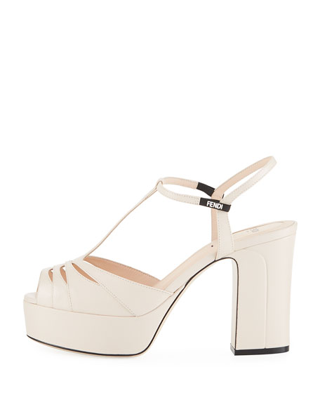 100mm Leather Platform Sandal