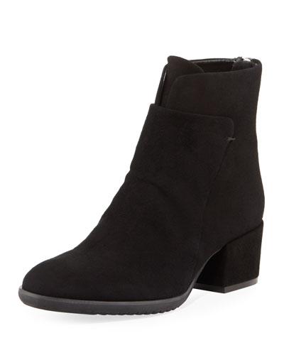 Fleo Comfort Low-Heel Booties  Black
