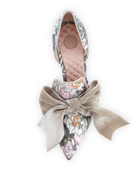 Clara Floral d'Orsay Bow Pump