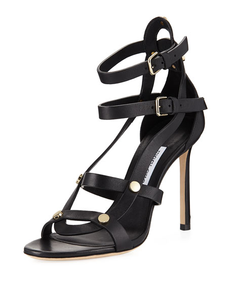 Jimmy Choo Motoko High Leather Sandal