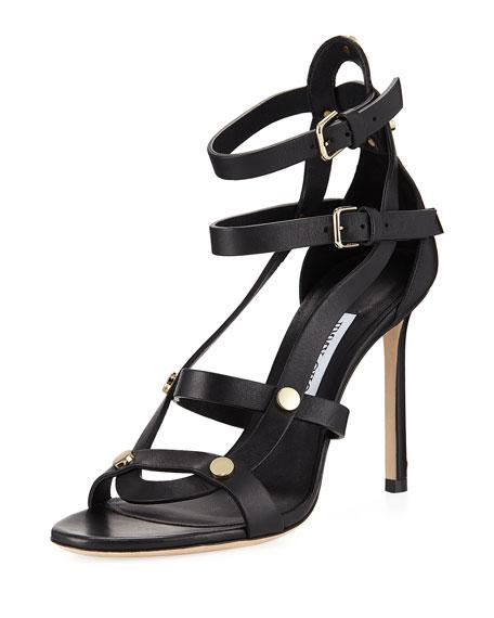 Jimmy Choo Motoko High Leather Sandal