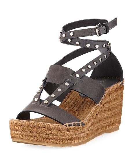 Jimmy Choo Danica Studded Wedge Espadrille Sandal