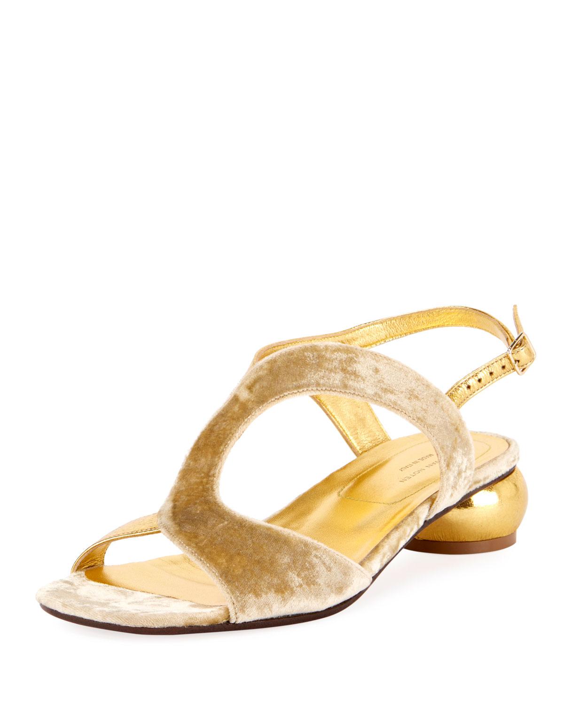 bb12dcf11933 Dries Van Noten Strappy Velvet 20mm Sandal