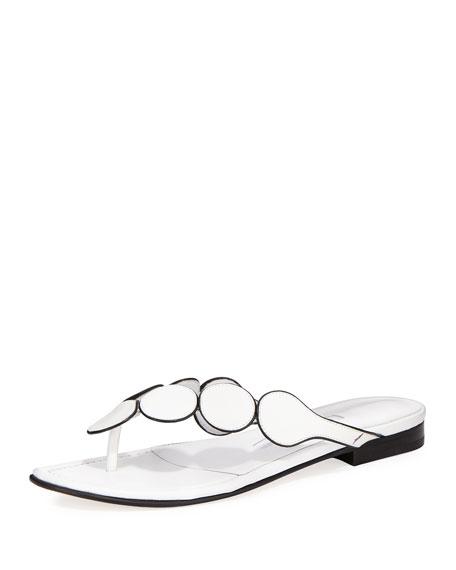 Manolo Blahnik Ariflat Leather Thong Sandal