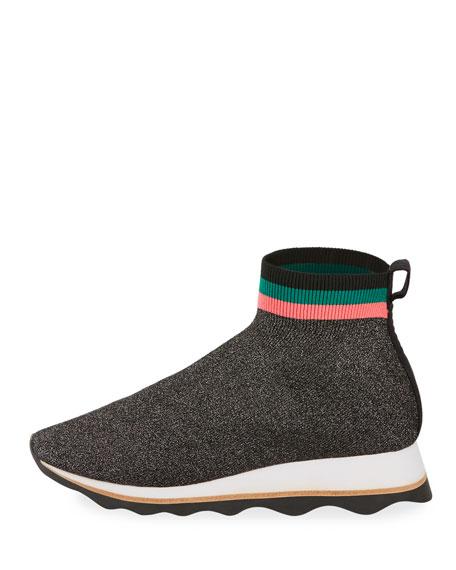 Loeffler Randall Scout Knit Sock Sneakers