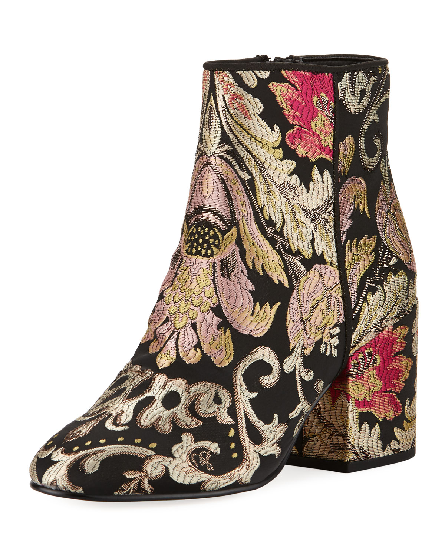 19efe4843b3d8b Sam Edelman Taye Metallic Jacquard Ankle Boot