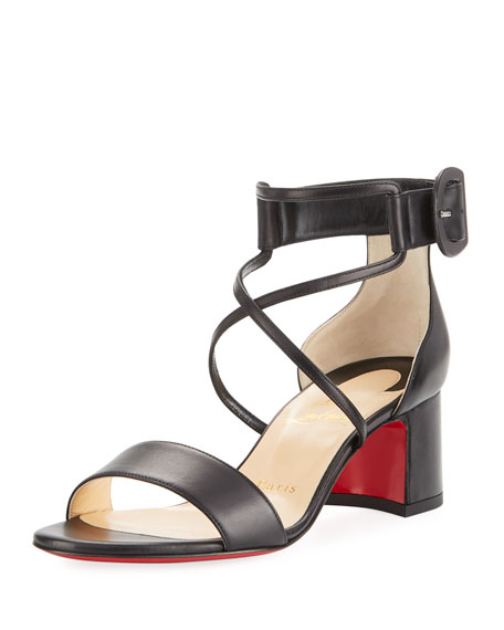Christian Louboutin Choca Strappy Red Sole Pump