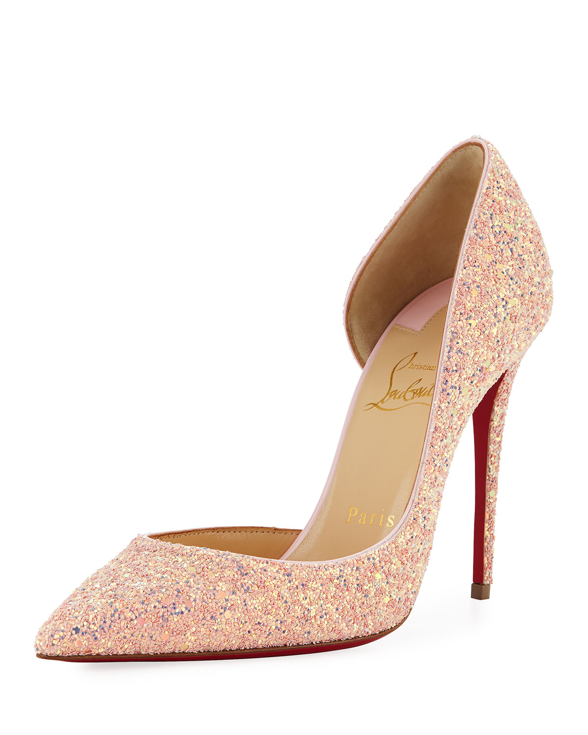 Christian Louboutin Beige Red Pigalles Follies Patent 100mm Sole Pump Color official online store
