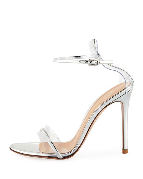 Plexi/Metallic 105mm Ankle-Wrap Sandal