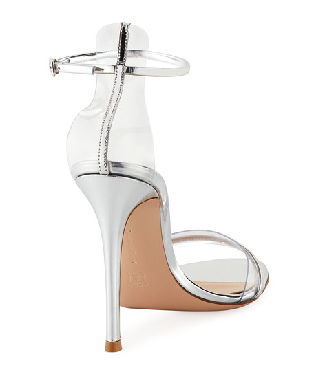 Plexi Metallic Leather Ankle-Strap 105mm Sandal