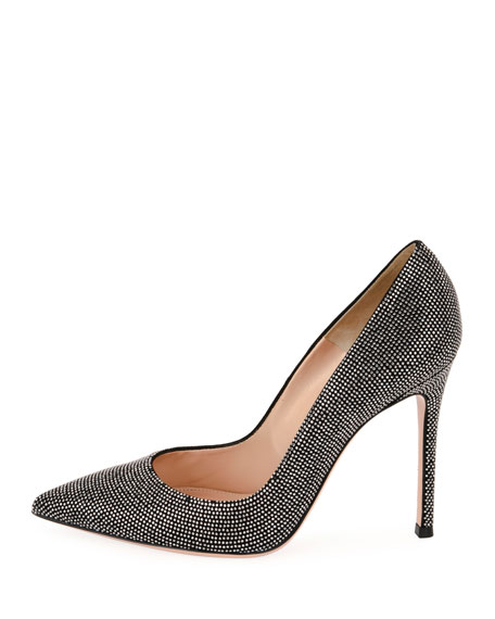 Lennox Studded Suede 105mm Pump