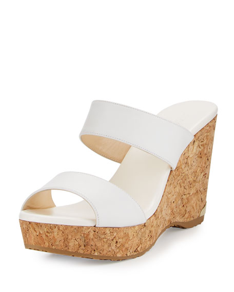 Parker Two-Band Cork Wedge Sandal