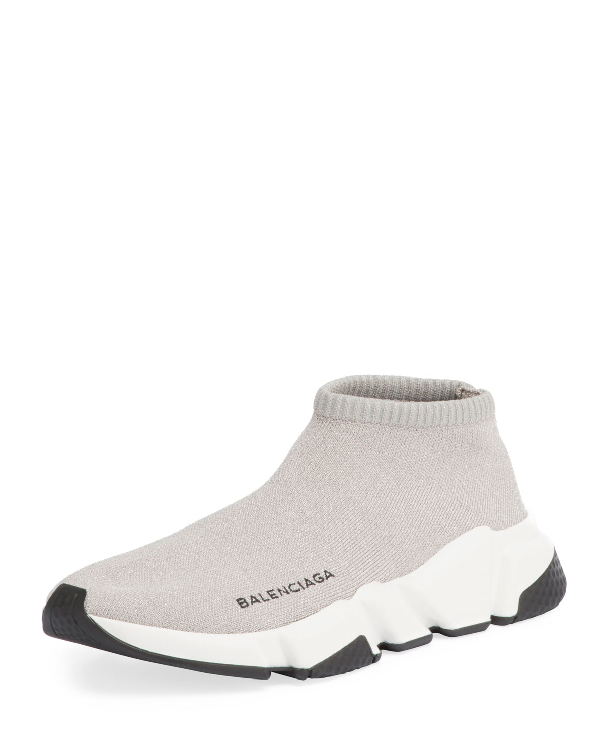 89af17abfe83 Balenciaga Metallic Knit Sock Sneakers
