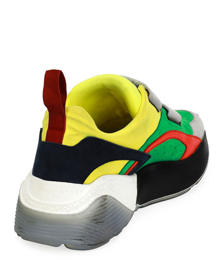Colorblock Grip-Strap Platform Sneakers