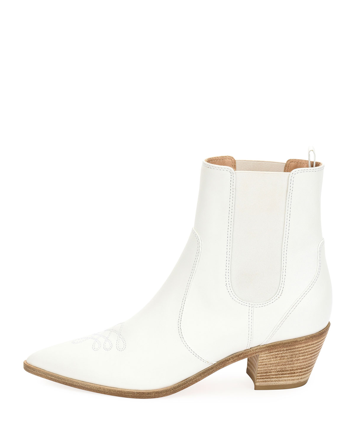 dfba086c0 Gianvito Rossi Embroidered Leather Western Ankle Boots | Neiman Marcus