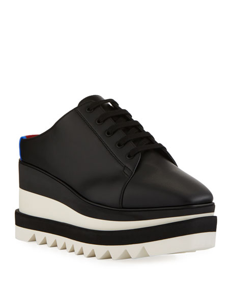 Sneakelyse Platform Slide Sneakers in Black