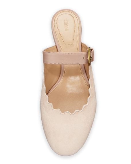 Lauren Flat Suede Mary Jane Slide