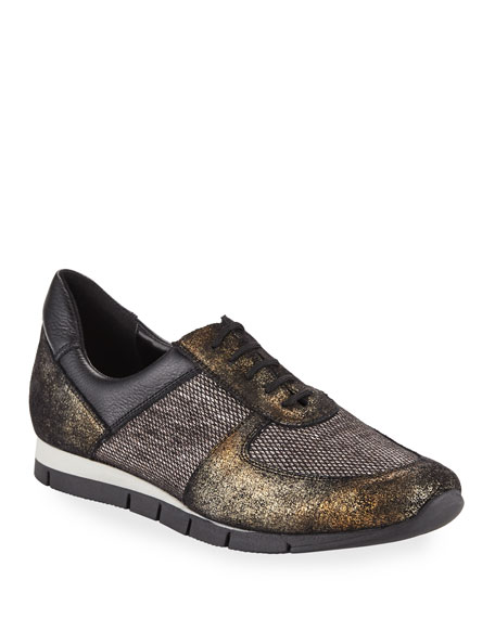 Candy Metallic Trainer Sneakers, Black