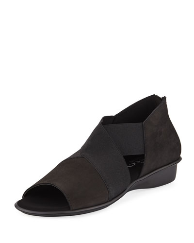 Elmine Comfort Slip-On with Metallic Trim, Black
