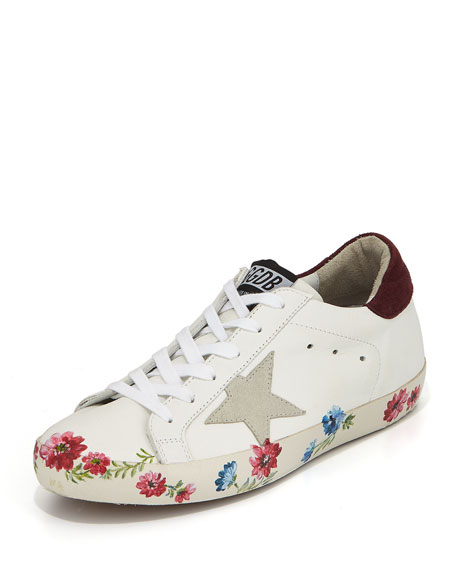 Golden Goose Superstar Hand-Painted Low-Top Sneakers