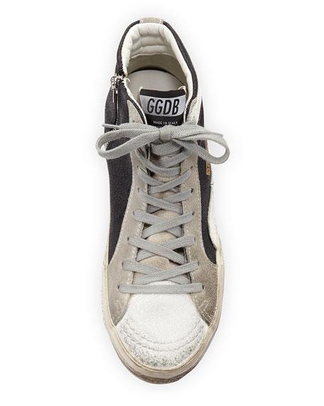 Glitter High-Top Star Sneaker