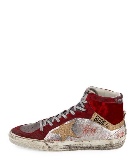 Mixed High-Top Star Sneaker