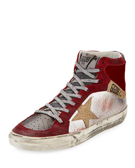 Golden Goose Mixed High-Top Star Sneaker