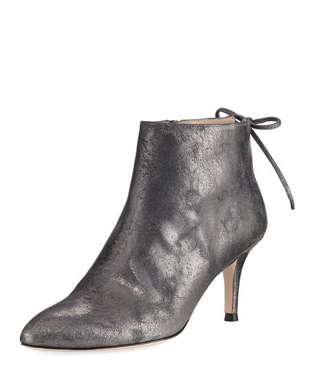 Stuart Weitzman Lofty Metallic Leather Ankle Boot