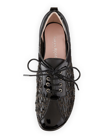 Trudee Woven Lace-Up Sneaker, Black