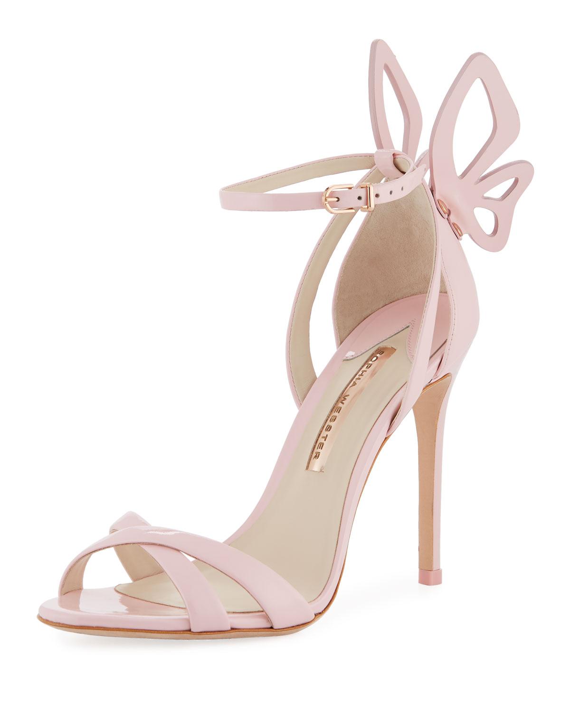 Madame Chiara Metallic Leather Sandals - Rose gold Sophia Webster vm4OYCz