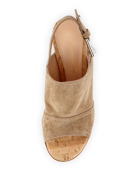 Marcy Suede Slingback Sandal