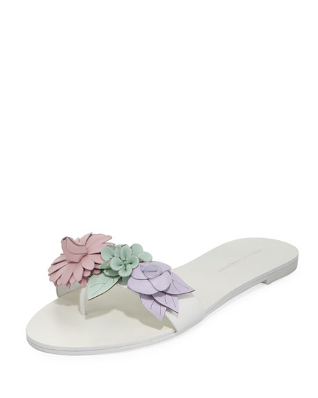 Sophia Webster Lilico Floral Slide Flat Sandal