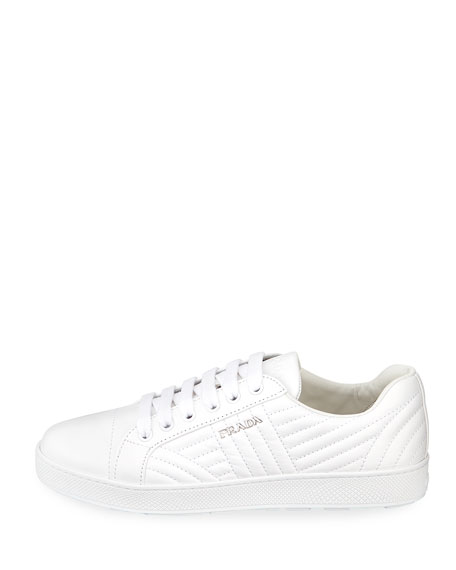 Stitched Leather Low-Top  Sneakers