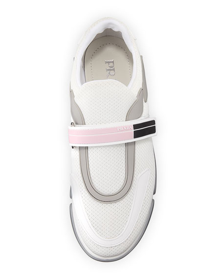 Knit Trainer with Logo Strap