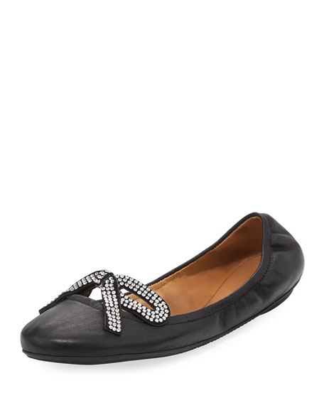 Marc Jacobs Willa Strass Bow Ballerina Flat