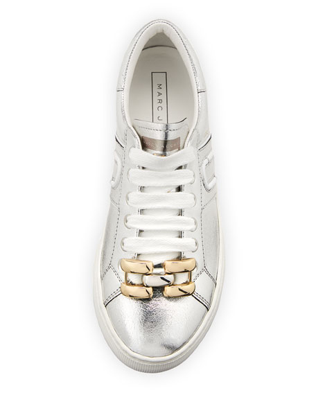 Empire Metallic Chain-Link Low-Top Sneakers