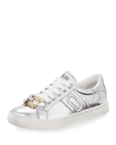 Empire Metallic Chain-Link Low-Top Sneaker