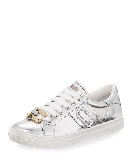 Marc Jacobs Empire Metallic Chain-Link Low-Top Sneaker