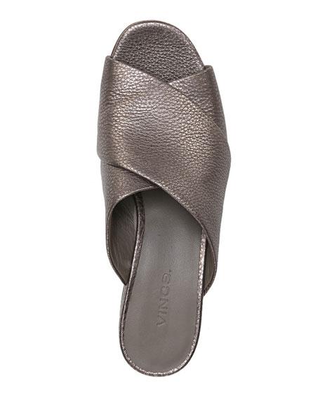 Karsen Metallic Crossband Slide Sandal