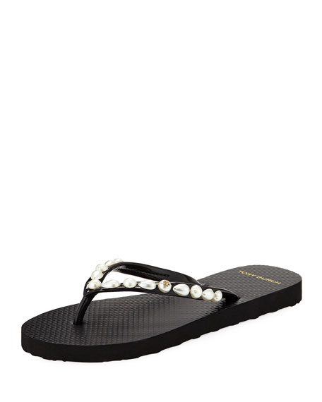 Tory Burch Pearlescent Flat Flip Flop
