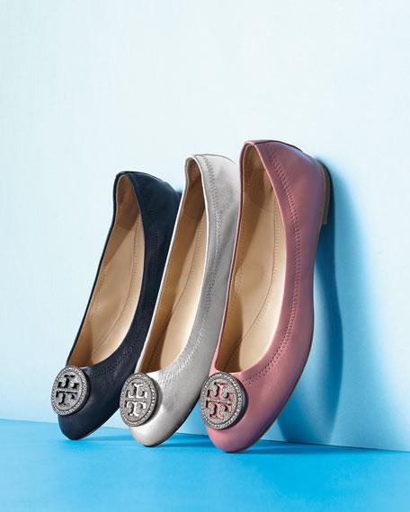 Liana Metallic Leather Ballet Flats