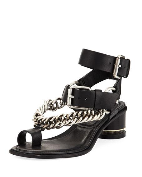 Alexander Wang Jada Chain Chunky-Heel Sandal