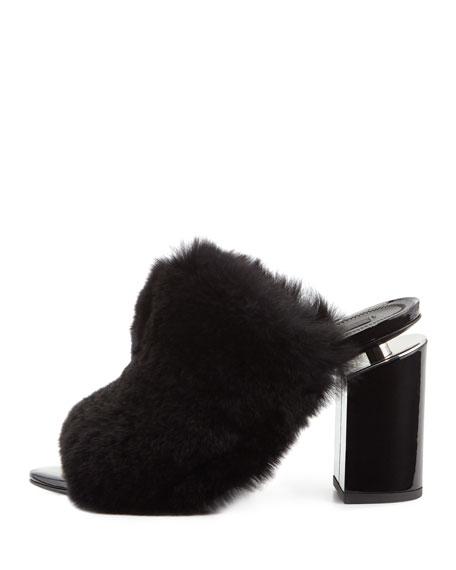 Avery Fur Mule Sandal