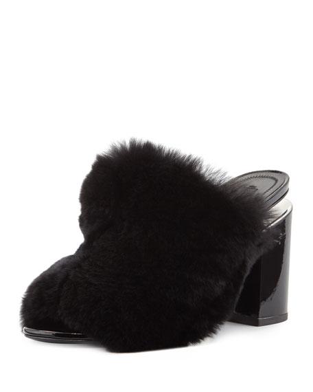 Alexander Wang Avery Fur Mule Sandal