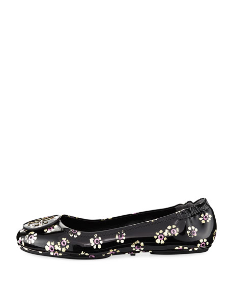 Minnie Stamped Floral Travel Ballet Flat