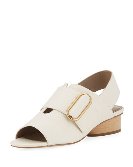 Donald J Pliner Randie Tumbled Leather Slingback Peep-Toe