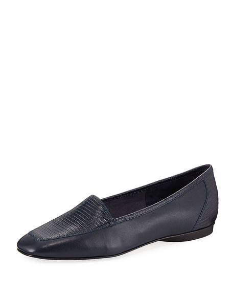 Donald J Pliner Deedee Slip-On Mixed Leather Flat,