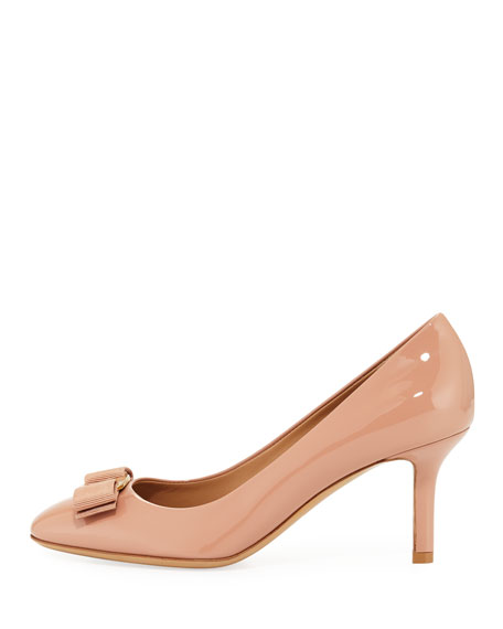 Erice70 Vara Bow Patent 70mm Pumps, New Blush