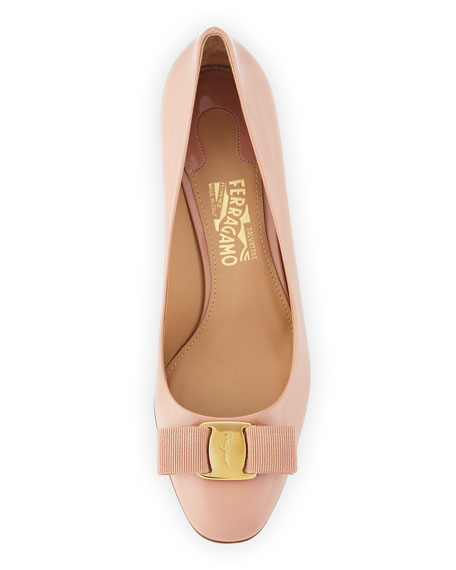 Erice70 Vara Bow Patent 70mm Pump, New Blush